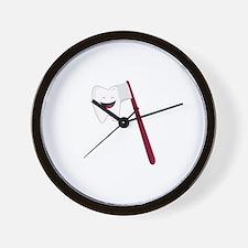 Brush Teeth Wall Clock