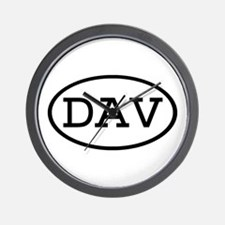 DAV Oval Wall Clock