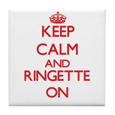 Keep calm and Ringette ON Tile Coaster