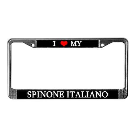Love Spinone Italiano License Plate Frame