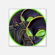 """Unique Alien probe Square Sticker 3"""" x 3"""""""