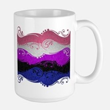 Gender Fluid Ornamental Flag Large Mug