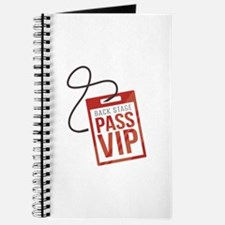 Back Stage Pass Journal