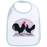 Black Dutch Chickens Bib