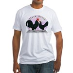 Black Dutch Chickens Fitted T-Shirt