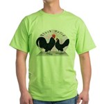 Black Dutch Chickens Green T-Shirt