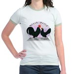 Black Dutch Chickens Jr. Ringer T-Shirt