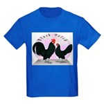Black Dutch Chickens Kids Dark T-Shirt