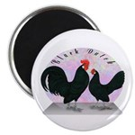 Black Dutch Chickens Magnet