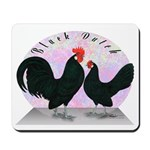 Black Dutch Chickens Mousepad