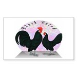 Black Dutch Chickens Rectangle Sticker