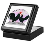 Black Dutch Chickens Keepsake Box