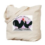 Black Dutch Chickens Tote Bag