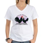 Black Dutch Chickens Women's V-Neck T-Shirt