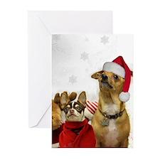 Christmas Chihuahuas Greeting Cards
