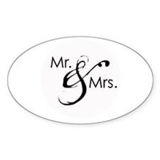 Mr. and Mrs. Oval Decal