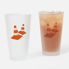 Safety Cones Drinking Glass