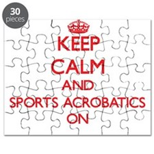 Keep calm and Sports Acrobatics ON Puzzle