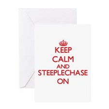 Keep calm and Steeplechase ON Greeting Cards