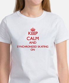 Keep calm and Synchronized Skating ON T-Shirt