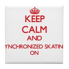 Keep calm and Synchronized Skating ON Tile Coaster