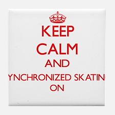 Keep calm and Synchronized Skating ON Tile Coaster