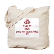 Keep calm and Synchronized Skating ON Tote Bag
