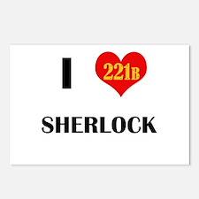 I Heart Sherlock 221B Postcards (Package of 8)
