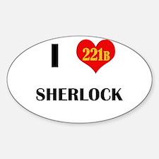 I Heart Sherlock 221B Decal