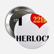 "I Heart Sherlock 221B 2.25"" Button (10 pack)"