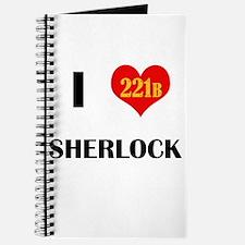 I Heart Sherlock 221B Journal