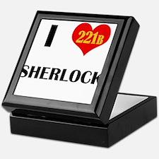 I Heart Sherlock 221B Keepsake Box