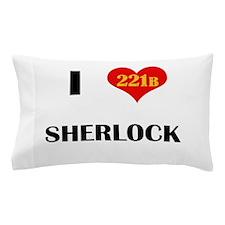 I Heart Sherlock 221B Pillow Case