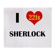 I Heart Sherlock 221B Throw Blanket