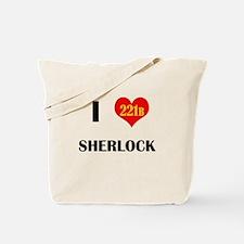 I Heart Sherlock 221B Tote Bag