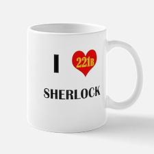 I Heart Sherlock 221B Mugs