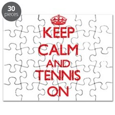 Keep calm and Tennis ON Puzzle