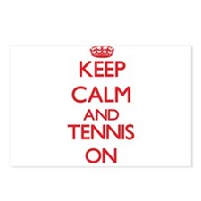 Keep calm and Tennis ON Postcards (Package of 8)