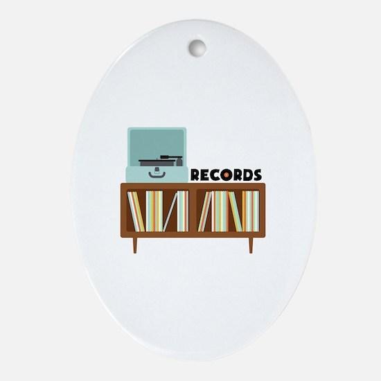 Records Ornament (Oval)