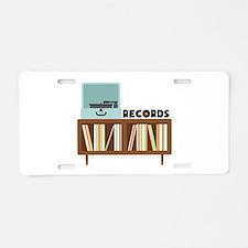 Records Aluminum License Plate