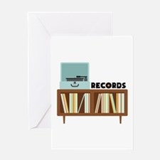 Records Greeting Cards
