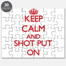 Keep calm and The Shot Put ON Puzzle
