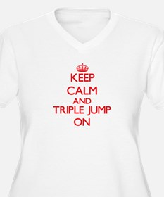 Keep calm and The Triple Jump ON Plus Size T-Shirt
