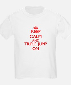Keep calm and The Triple Jump ON T-Shirt
