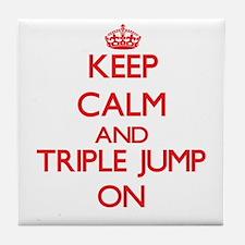 Keep calm and The Triple Jump ON Tile Coaster