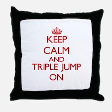Keep calm and The Triple Jump ON Throw Pillow