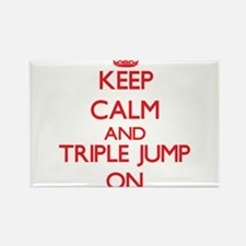 Keep calm and The Triple Jump ON Magnets