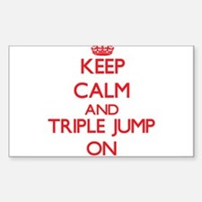 Keep calm and The Triple Jump ON Decal