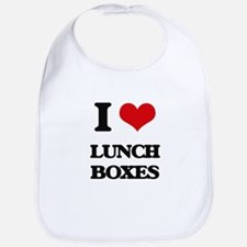 I Love Lunch Boxes Bib