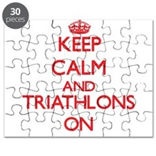 Keep calm and Triathlons ON Puzzle